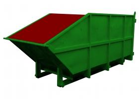 Контейнер металлический открытый (лодочка для мусоровозов BFE)